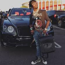 bentley suede lil uzi vert caught the perfect candid during golden hour in front