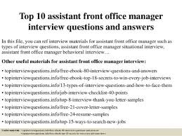 assistant front office manager cover letter