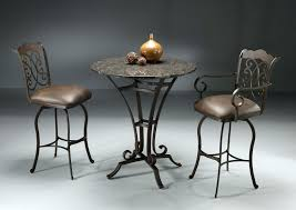 dining room classic 3 piece counter height metal dining set with