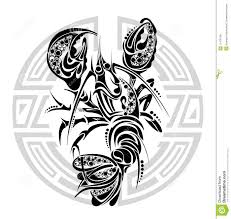 zodiac signs cancer tattoo design editorial stock photo