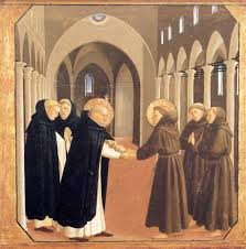 the meeting of sts dominic and francis of assisi 1434 1435
