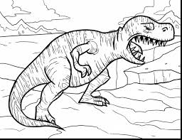 beautiful volcano coloring pages printable with t rex coloring