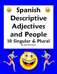spanish adjectives u0026 people worksheet number u0026 gender agreement