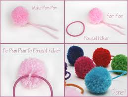 ponytail holder pom pom ponytail holder artzycreations