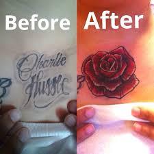 25 trending cover up name tattoos ideas on pinterest flower