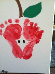 apple print made out of footprints crafts for kids pinterest