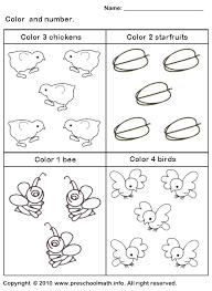 free worksheets color by number worksheets kindergarten free