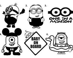 minion decal etsy