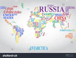 Indonesia World Map by Word Cloud World Map Stock Vector 169907267 Shutterstock