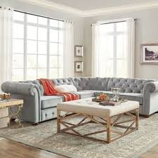 Tufted Sofa Sectional Sectional Sofas For Less Overstock