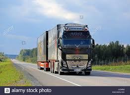 truck volvo orivesi finland september 1 2016 the specatular show truck