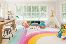 Kids Playroom by Interior Decoration Colorful Kids Playroom With Small Grey Table