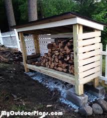 diy backyard firewood shed myoutdoorplans free woodworking