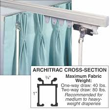Ceiling Mounted Curtain Track System Architrac Baton Draw Ceiling Mount Drapery Track National Hospitality