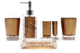 home u0026 garden san resin 5 pieces bathroom accessory set