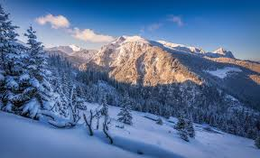 winter nature wallpapers nature landscape winter snow mountain forest sunset trees