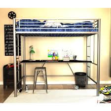dhp twin metal loft bed 4069417 the home depot