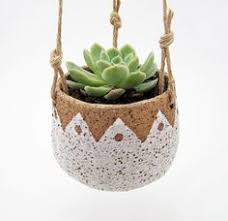 Hanging Succulent Planter by Ceramic Teardrop Planter Planters And Pottery