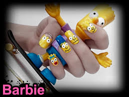 the simpsons nails nail design in simpsons shape animated