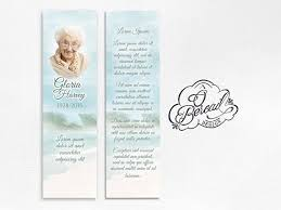 memorial bookmarks and funeral bookmarks printable celebration of