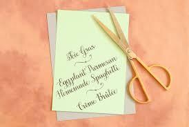 Diy Wedding Menu Cards Diy Menu Cards Tutorial Diagonal Concept The Postman U0027s Knock