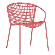 Pink Outdoor Furniture by 10 Easy Pieces Outdoor Dining Chairs In Shades Of Spring Gardenista
