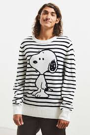 snoopy striped sweater outfitters