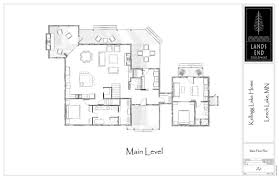 leech lake log home floor plan by lands end development