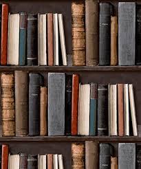 wallpaper that looks like bookshelves amazon com library bookshelf realistic bookcase wallpaper pob 33