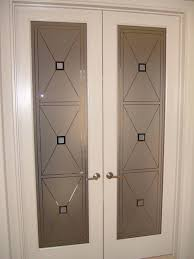 interior glass doors with obscure frosted glass designs cross