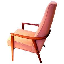 High Back Armchair Danish Modern Solid Teak High Back Armchair With Sculptural Shape
