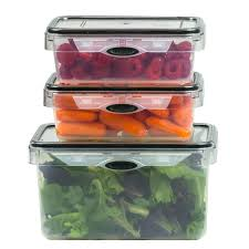 Clear Glass Kitchen Canisters Stor All Press N Click 6 Piece Set Rectangular Plastic Kitchen