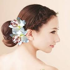 hair pieces for wedding aliexpress buy 2 pcs wedding bridal hair clip pins orchid