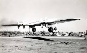 northrop yb 49 42 102367 takes off from northrop field hawthorne