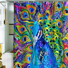 Peacock Curtains Peacock Shower Curtains In 10 Colorful And Eccentric Designs Rilane