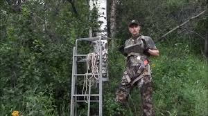 how to set a ladder treestand youtube