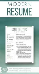modern resume template from resume foundry includes one two and