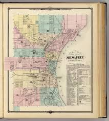 A Map Of Wisconsin by Map Of The City Of Milwaukee Milwaukee Co David Rumsey