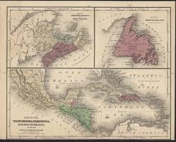 Newfoundland Map Map Of Newfoundland Nova Scotia New Brunswick U0026 West Indies