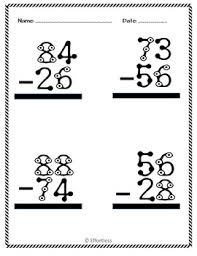 math subtraction worksheets double digit with and without regrouping