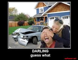 Car Wreck Meme - car humor funny joke road street drive driver crash garage woman