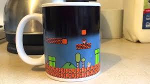 heated coffee mug mario heat change mug youtube