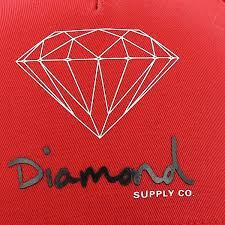 diamond supply co diamond supply co cap diamond og logo snapback red bei kickz com