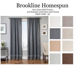 Linen Curtains With Grommets Brookline Linen Curtain Drapery Panels Bestwindowtreatments Com