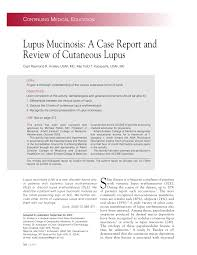 Testing Report Sle by Lupus Mucinosis A Report And Review Of Cutaneous Lupus Pdf