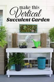 vertical succulent garden refresh restyle