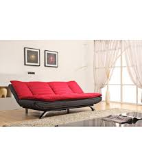 Sofa Bed Online Edo 3 Seater Sofa Bed Red U0026 Black Buy Edo 3 Seater Sofa