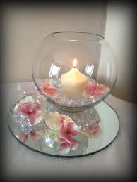 fish bowl centerpieces fishbowl with candle wedding centrepiece glasgow special