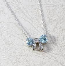 natural topaz necklace images Natural swiss blue topaz trilliant bowtie pendant in sterling 925 JPG