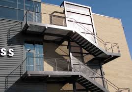 Exterior Stair Railing by Metal Stair Railing Add Photo Gallery Exterior Metal Stairs